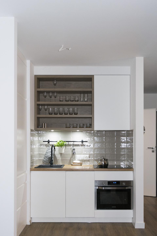 Biała kuchnia z drewnianym blatem  Komodo -> Biala Kuchnia Drewnianym Blatem
